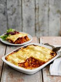 Beef lasagne with carrot
