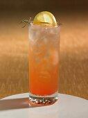A vodka sunrise cocktail