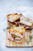 Traditional paninis with porchetta (Rome, Italy)