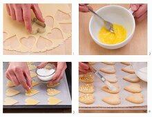 How to make lemon shortbread hearts