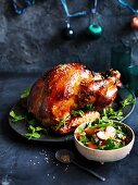 Peach and ginger roast turkey