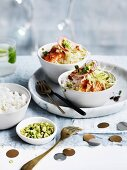 Sachimi rice bowls with pickled ginger dressing and wasabi peas
