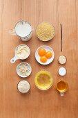 Ingredients for millet pudding