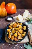 Pumpkin gnocchi with sage and parmesan