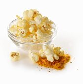 Popcorn with chilli and turmeric