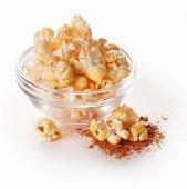 Popcorn with paprika powder