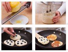 Blueberry Pancakes zubereiten