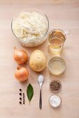 Ingredients for classic sauerkraut