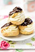 Profiteroles with chocolate drizzle