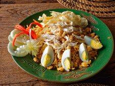 Chicken goreng, Lombok island, Indonesia