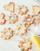 Easter biscuits, decorated with sugar beads