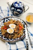 Fried rice with beef, chilli and egg