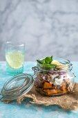 Sweet potato and tuna salad