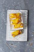 Mediterranean yellow pepper rolls