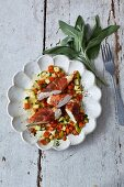 Sage chicken with carrots