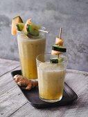 Kohlrabi and ginger smoothie