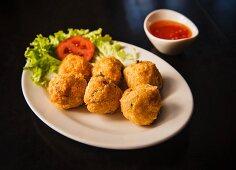 Chicken balls with chilli sauce (Thailand)