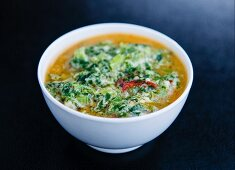 Jaju (milk and vegetable soup, Bhutan)