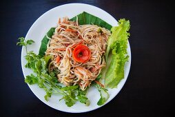 Thai noodles with carrots