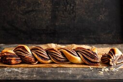 Chocolate bread made from ready-made flaky pastry