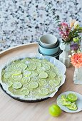 Avocado and lime tart (lactose-free, gluten-free and sugar-free)