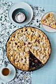 Cherry crumble cake (lactose-free, gluten-free)