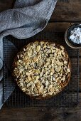 Spiced pear and almond cake