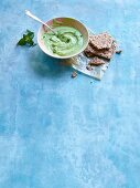 Pea and mint dip with tahini