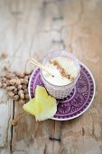 Pineapple and tiger nut smoothie with bourbon vanilla