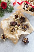Christmas chocolate florentine stars
