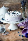 Blueberry cake with lavender