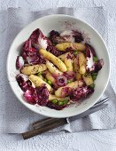 A Bamberg potato salad with radicchio