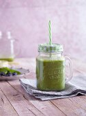 A spinach, avocado, and blueberry smoothie - 'Olivia's Green Secret'