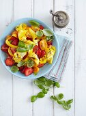 A tomato and zucchini salad with strawberries - 'Sweet Sunrise'