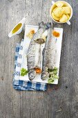 Blue trouts with potatoes
