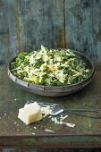 A winter Caesar salad with kale