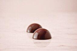 Two praline truffles