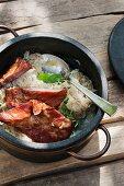 Pork ribs with sauerkraut