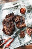 Kalbi (grilled marinated ribs, Korea)