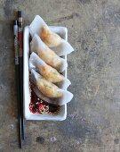 Stuffed rice paper dumplings (Japan)