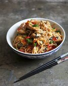 Mie Goreng (fried noodles with chicken, Indonesia)