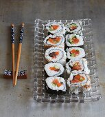 Assorted maki sushi
