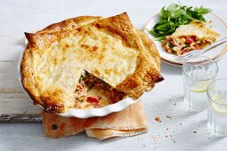Cheese, Spinach and Ham Slice