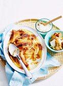 Banana and Caramel Bread Pudding