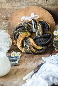 A poppy seed bread ring