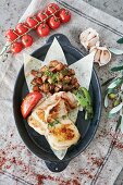 Turkey breast fillets with fried potatoes