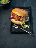 A kebab-style cheeseburger