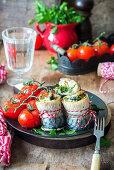 Mackrel rolls roast with parsley pesto