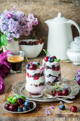 Berry and chocolate trifle