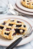 Blueberry and redcurrant tartlet